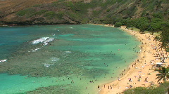 Tropical Hanauma Bay in Honolulu, Oahu, Hawaii - stock footage