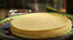 Corn tortillas an mexican spices Stock Footage