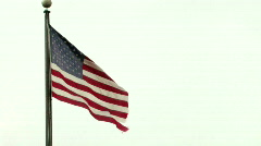 American Flag on White Stock Footage