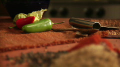 Mexican spices and peppers Stock Footage
