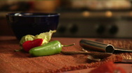 Stock Video Footage of mexican spices and peppers