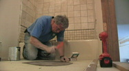 Stock Video Footage of Bathroom Remodeling
