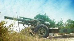 Artillery gun Stock Footage