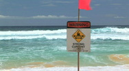 Stock Video Footage of Warning Strong Current
