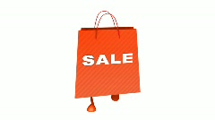 red sale bag - stock footage