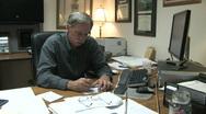 Businessman at Desk 1 Stock Footage