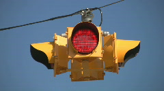 Flashing 4-way stoplight.  Stock Footage