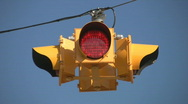 Flashing 4-way stoplight.  Stock Footage
