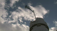 St Andrews Scotland Flag On Top Of Scottish Castle Stock Footage