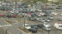 Busy Parking Lot Stock Footage