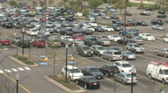 Stock Video Footage of Busy Parking Lot