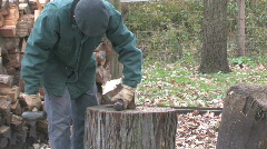 Chopping Wood 1 Stock Footage