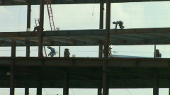 Construction Workers on Steel 2  Stock Footage