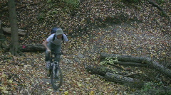 Mountainbike corner. Stock Footage