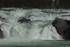 Rhine Falls in Europe. Waterfall in Schaffhausen (Switzerland) Stock Footage