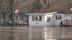 Flooded House 2 - stock footage