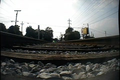 Train track cam-001e Stock Footage