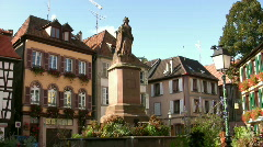 Place in Ribeauville - France Stock Footage