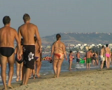 Beachlife in Italy Stock Footage