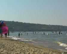 Beachlife on a italian beach Stock Footage