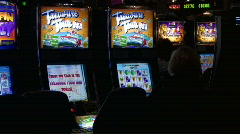 Slot Machines in a Casino Stock Footage