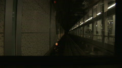 speed  train  ride  at front of train .timelapse. - stock footage