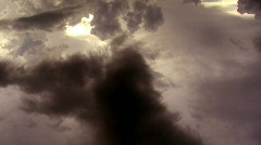 Dark Sunset Aerial  Stock Footage
