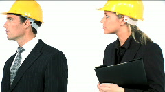 Construction architect team Stock Footage
