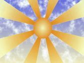 Sun with clouds background NTSC Stock Footage
