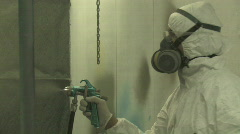 Industrial Spray Painting 2 - stock footage