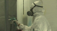 Stock Video Footage of Industrial Spray Painting 2