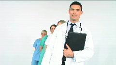 Medical team - stock footage