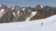 Alps mountaineers Stock Footage