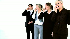 Business call Stock Footage