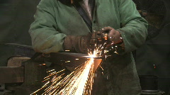 Man Using Blowtorch 1 Stock Footage
