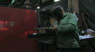 Man Using Blowtorch 3 Stock Footage