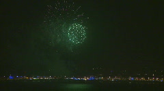 Weymouth Summer Fireworks Stock Footage