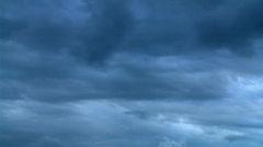 Cloudscape - Overcast Rain Clouds Gathering - stock footage