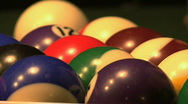 Stock Video Footage of Billiard Balls 02