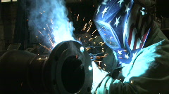 Man Welding, Close Up 1 - stock footage