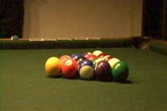 Billiard Balls Slow Motion Stock Footage