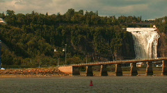 MONTMORENCY FALLS Stock Footage