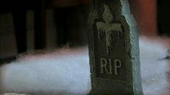 Spooky Gravestone 02 Stock Footage