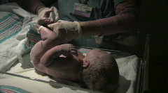 Nurse with Newborn Baby - stock footage