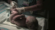 Stock Video Footage of Nurse with Newborn Baby