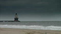 Lighthouse plain Stock Footage