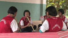 Thailand: Music Practice Stock Footage