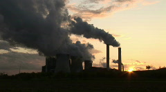HD1080i Brown coal power station in Germany (time lapse) Stock Footage