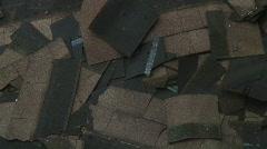 Shingles roof repair Stock Footage