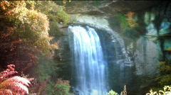 Water fall idealic REDO Stock Footage